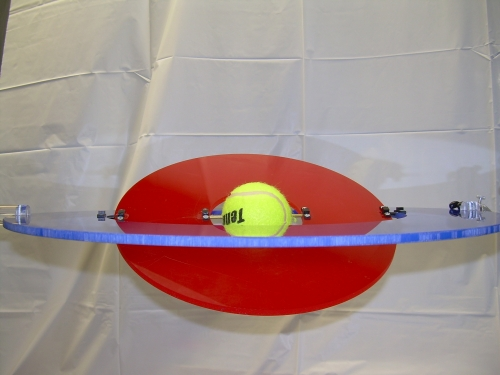 photograph of the ecliptic model