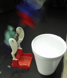 Photograph of drinking bird
