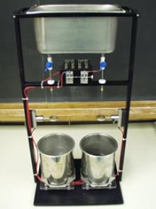Photograph of Kelvin's water drop electrostatic generator