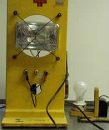 Photograph of resistance versus temperature