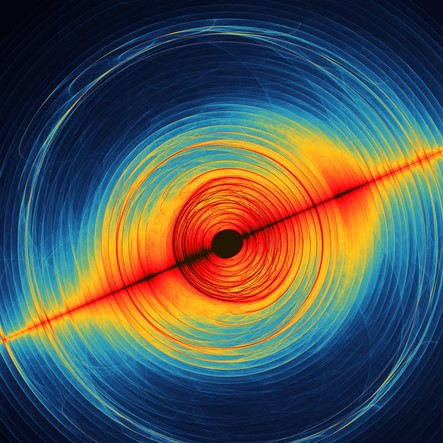An artist's rendition of gravitational waves.