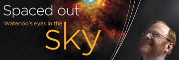 "University of Waterloo Magazine cover featuring Mike Fich - ""Spaced Out: Waterloo's eyes in the sky"""