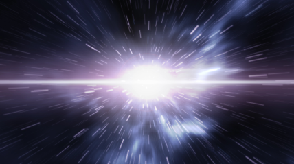 iStock image of warp space travel faster than the speed of light