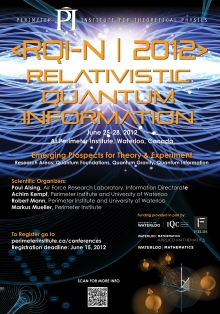 Relativistic Quantum Information North 2012 (RQI-N 2012) poster.