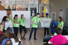 Students presenting charette