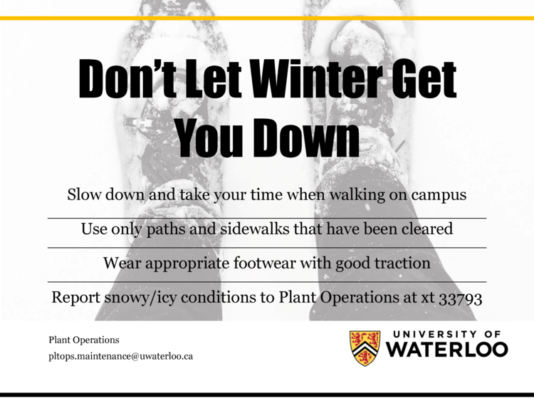 Don't Let Winter Get You Down Poster