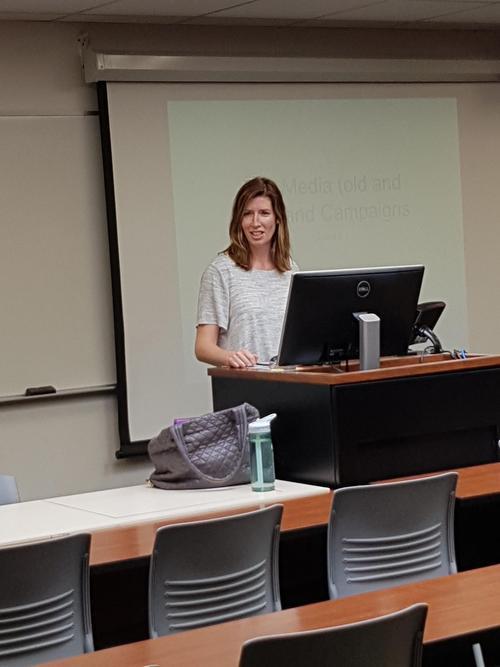 Professor Esselment teaching