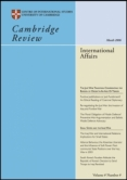 Cambridge Review of International Affairs cover.