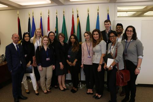 Political Science students at the IMF Spring Meetings of the World Bank Group