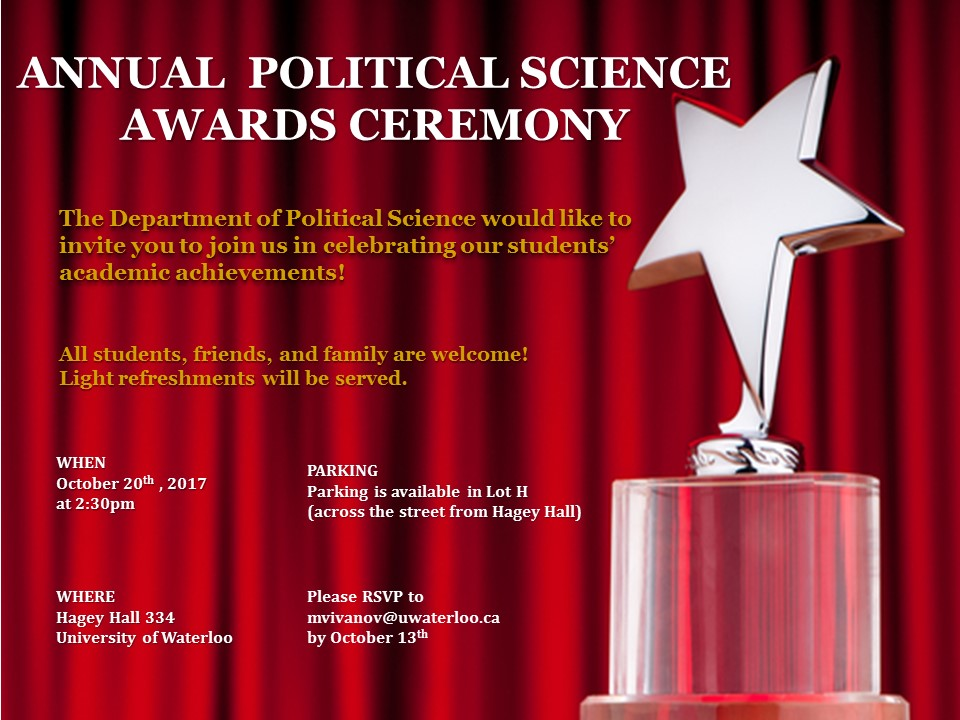 political science award ceremony