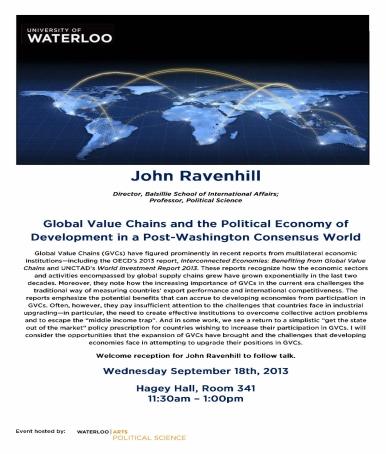 John Ravenhill poster