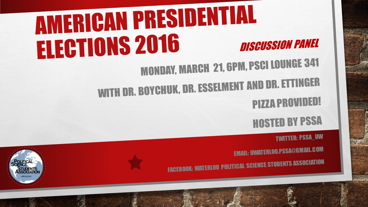 PSSA presents American Presidential Elections - A discussion panel