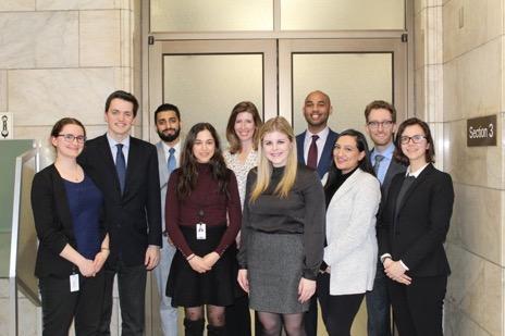 Dr. Esselment and Ontario Legislative interns