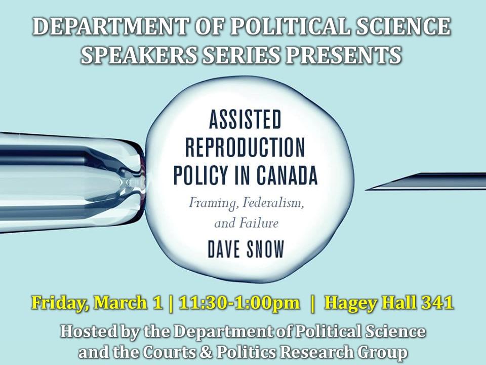 Dave Snow speaker series poster