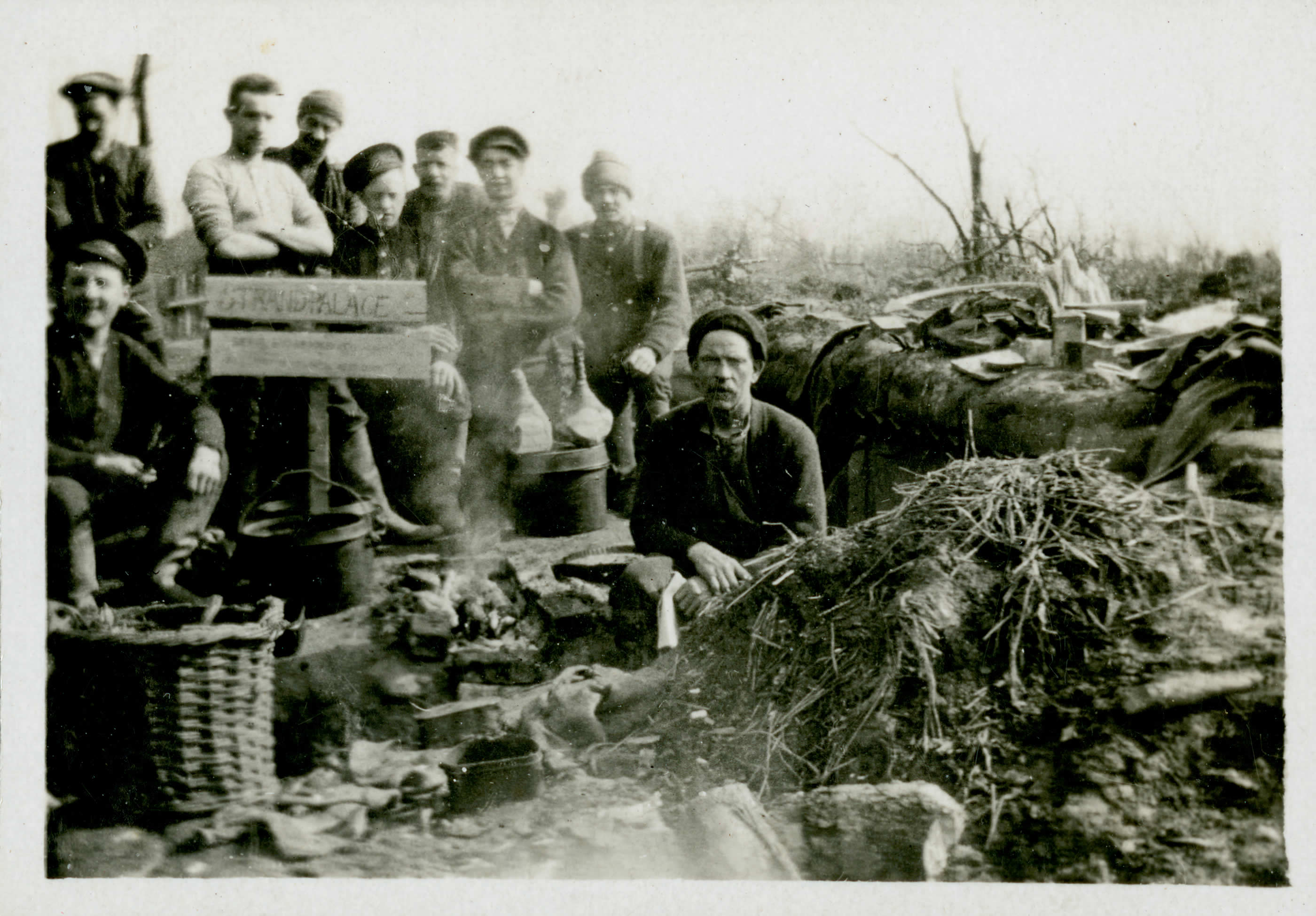 Canadian soldiers in the trenches