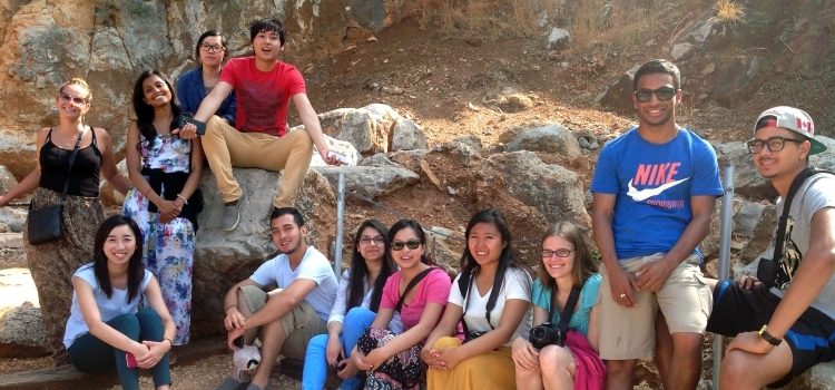 Students on field trip to Israel