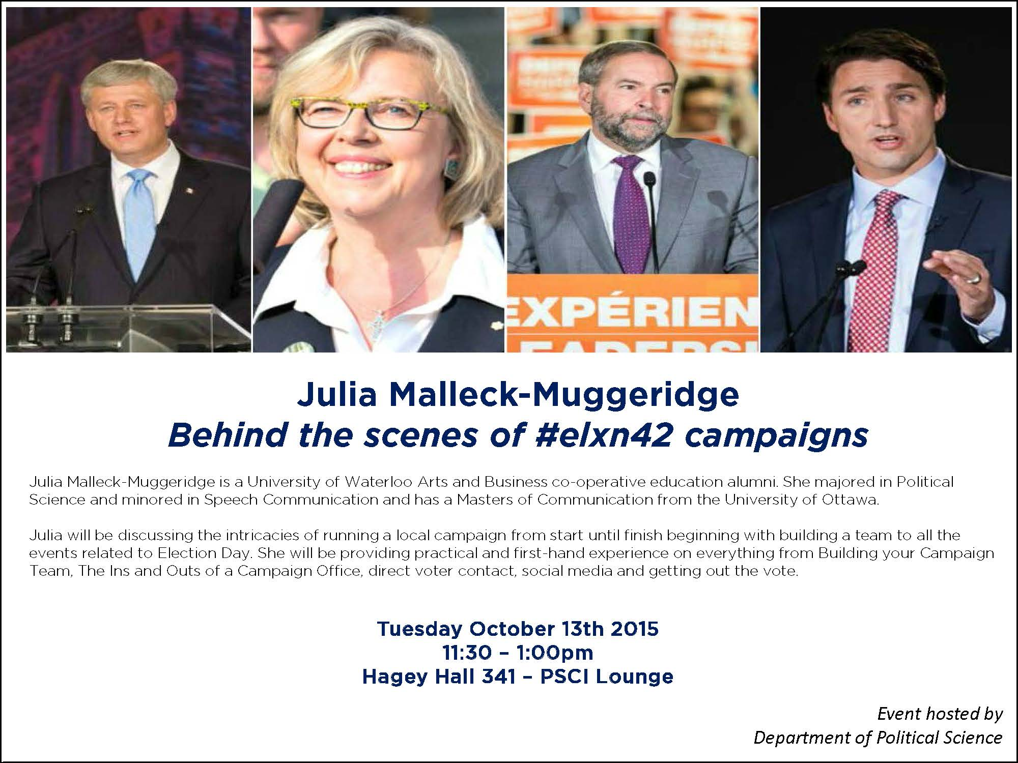Julia Malleck promo poster