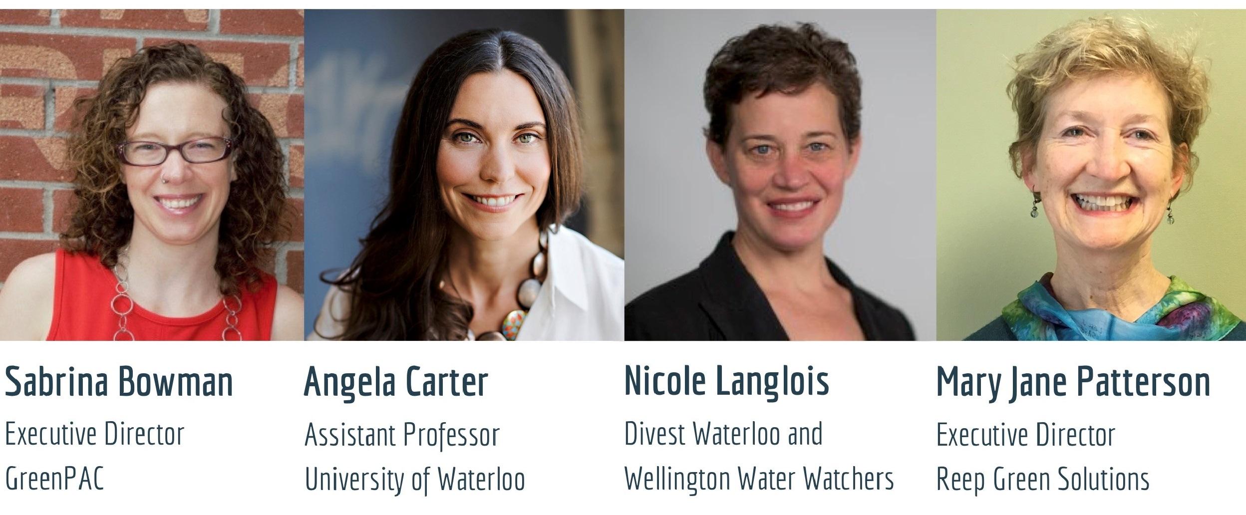 Dr. Angela Carter and 3 local panelists