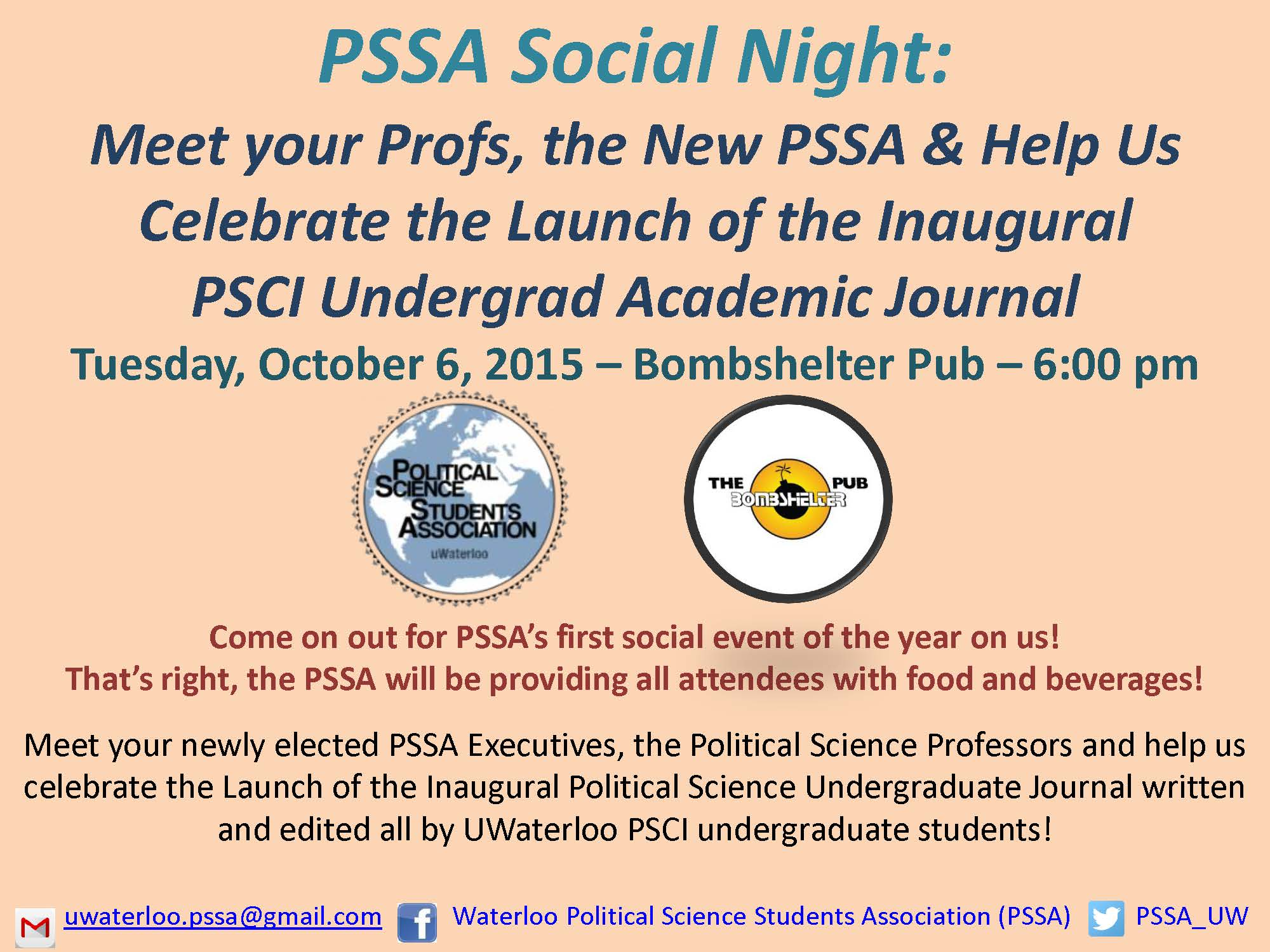 Political Science Student Association | Social Night at The Bomber
