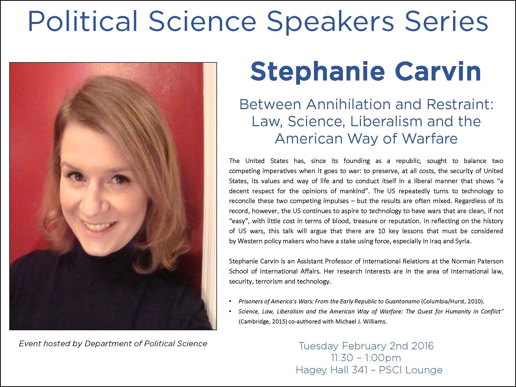 Stephanie Carvin