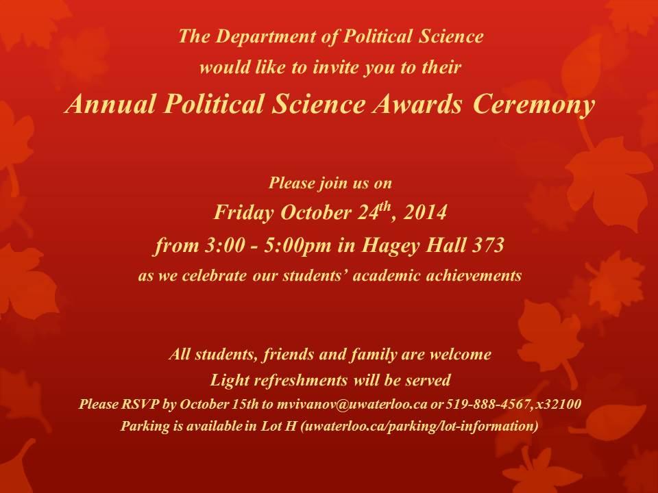 Undergraduate Awards Ceremony
