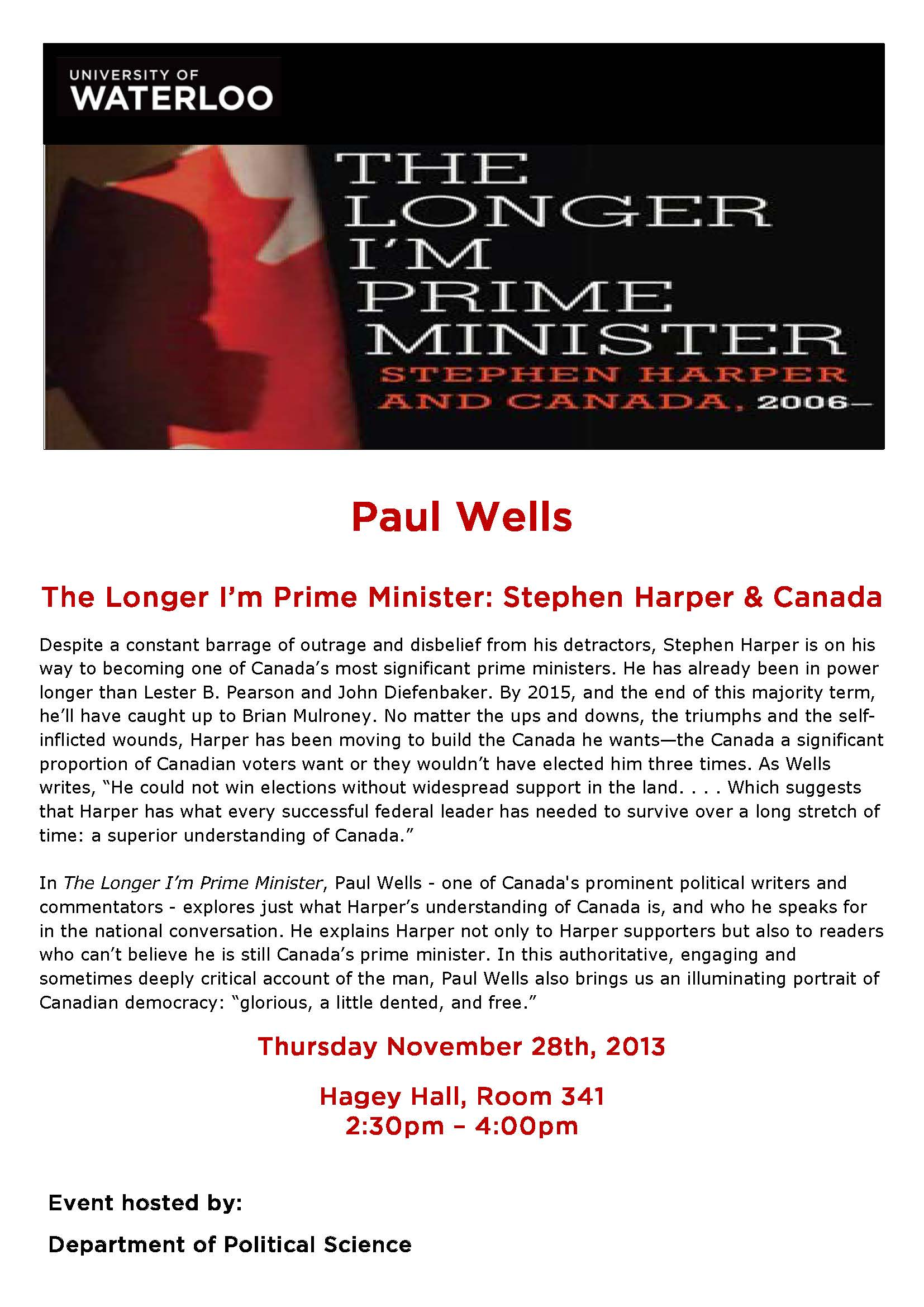 Paul Wells poster