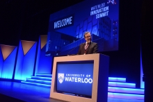 President Feridun Hamdullahpur speaking at Waterloo Innovation Summit