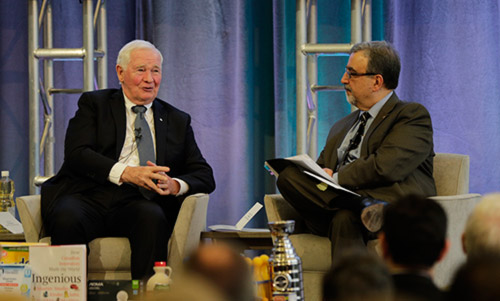 David Johnston and Feridun Hamdullahpur