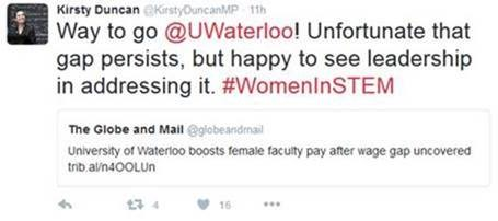 Way to go @UWaterloo! Unfortunate that gap persists, but happy to see leadership in addressing it.