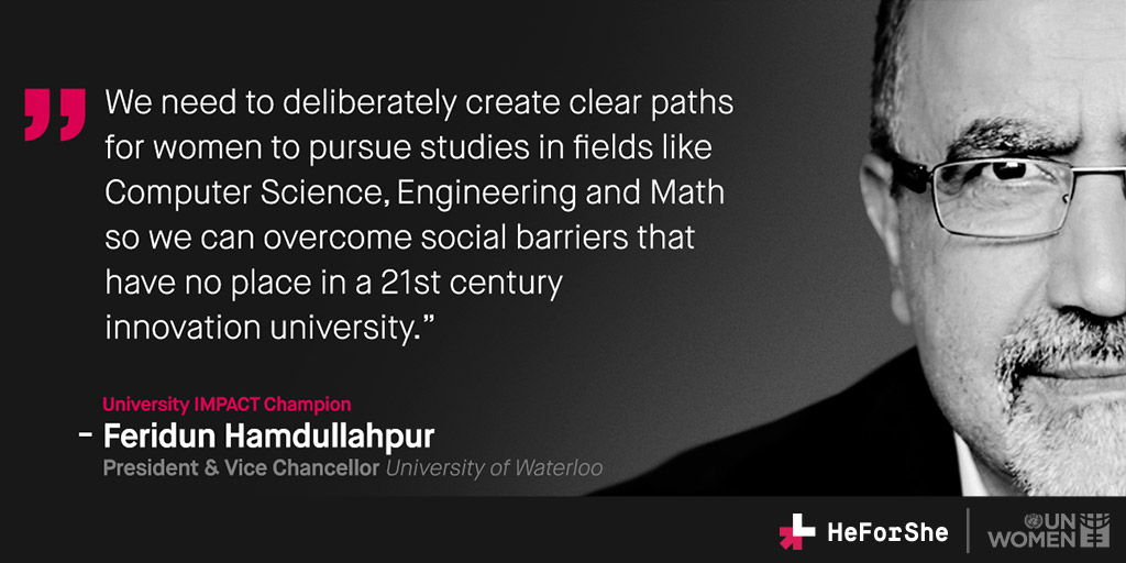 Feridun Hamdullahpur quoted regarding need for more women in STEM fields