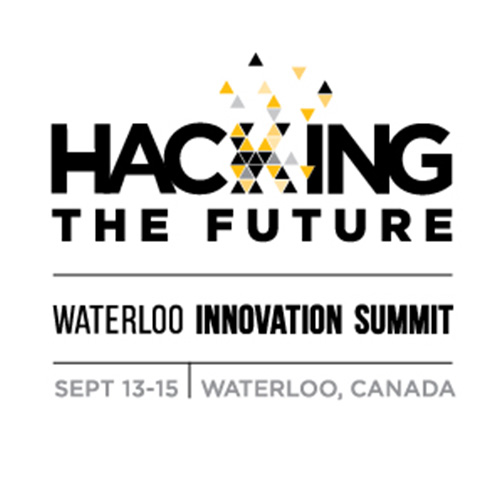Hacking the Future logo with event date and location