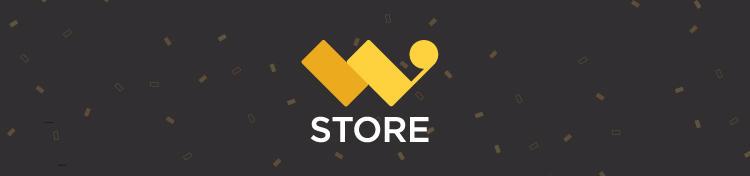 W Store Logo on black background