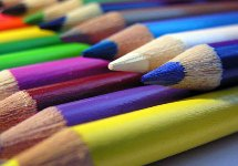 pencils of many colours