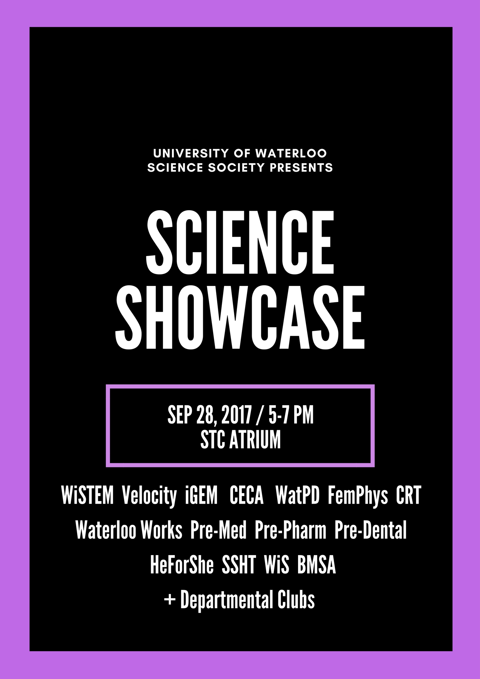science showcase poster
