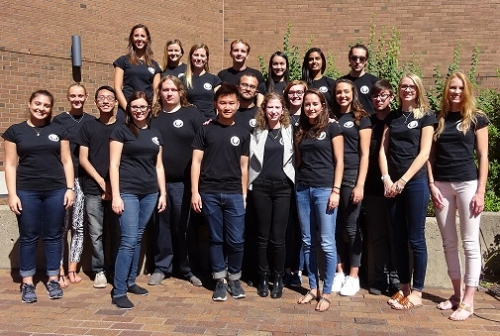 group photo of Psychology grad students 2016-17