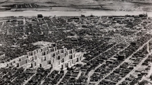 Arial view of Pruitt-Igoe housing complete in St. Louis