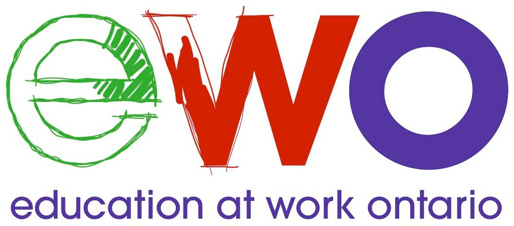 EWO logo  which stand for education at work Ontario