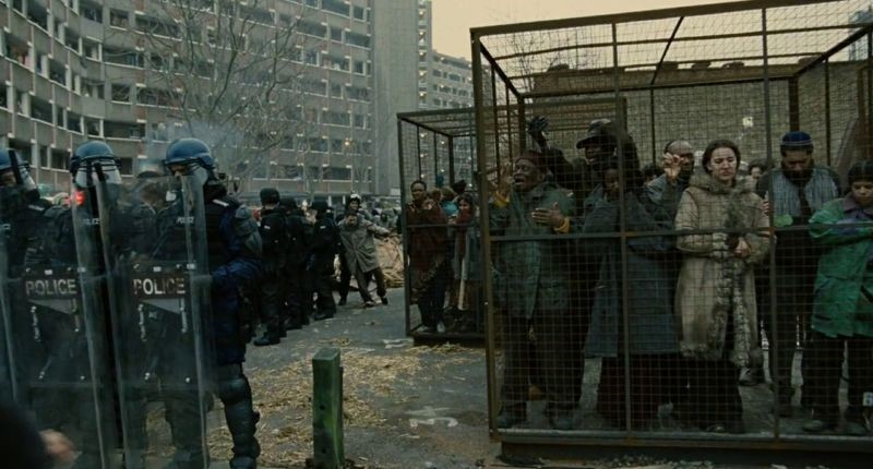 a movie scene from Children of men, declining public health