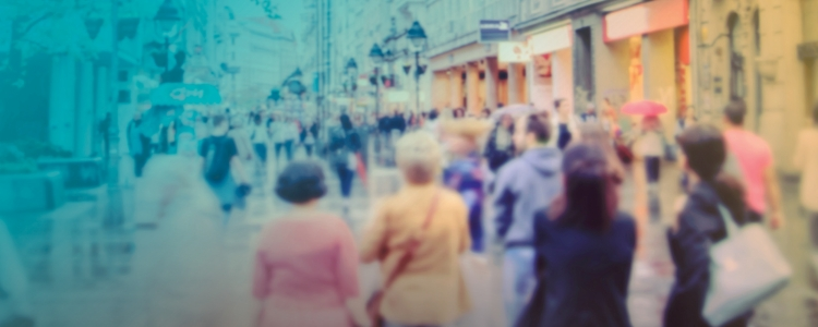 abstract photo of crowd in a busy street