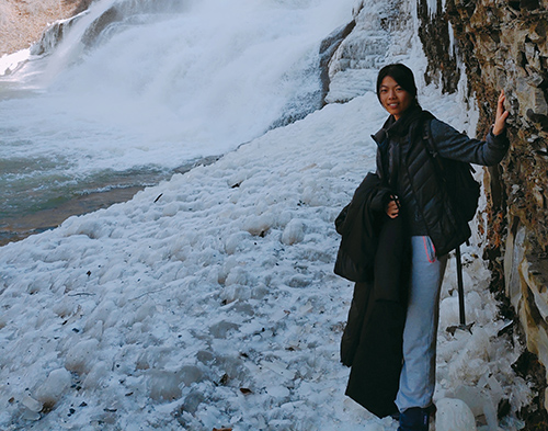 Wanchun Shen by a frozen river