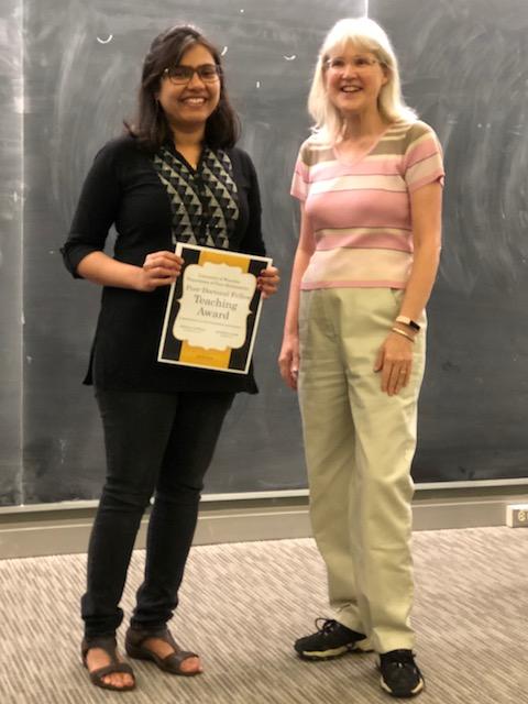 Post-Doctoral Fellow Teaching Award