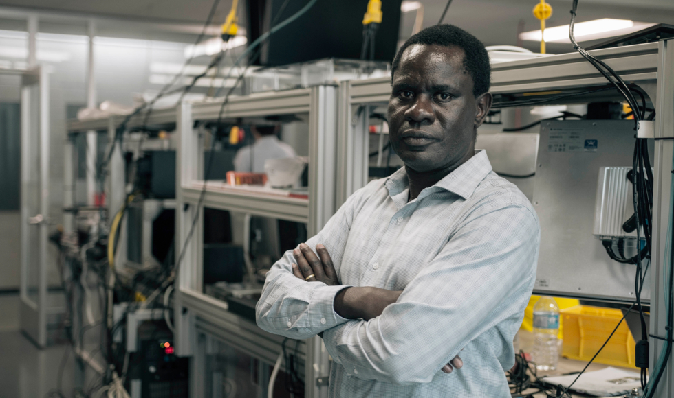 Engineering professor Tom Wanyama uses his experience in AI and manufacturing to address health challenges in a new way.