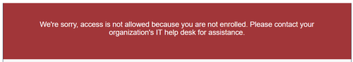 Message displayed if not signed up for two-factor authentication.