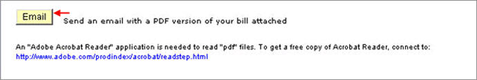 email a pdf version of your bill button