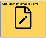 Admission Information Form tile in quest