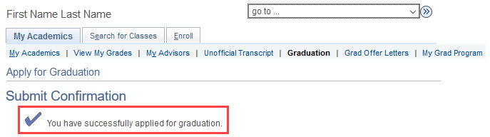 image of apply to graduate confirmation in quest