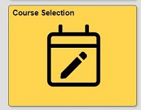Course selection tile in quest