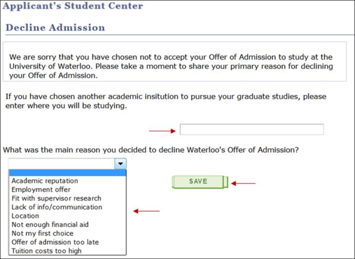 How Do I Accept Or Decline My Offer Of Admission  Quest