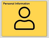 personal information tile in Quest