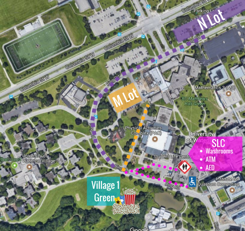 event site map for outdoor movie night